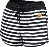 NIKE Pantalón Corto para Mujer Woven La, Mujer, Corto, CD3685-100, Blanco, Negro, Blanco y Rojo, Extra-Large