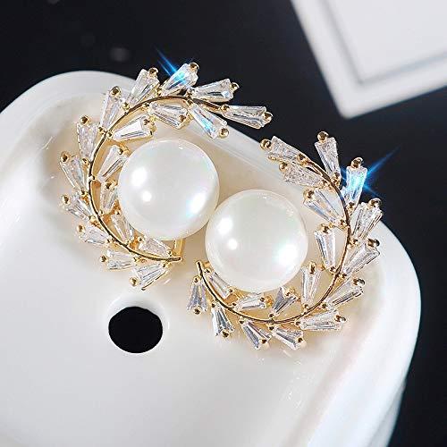 COISINI Damenmode Einfach 925 Silber Nadel Ohr Gold Cc-Förmige Girlande Ohrringe Mit Intarsien Leiter Square Zirkon Ohrringe Weibliche Ohrringe
