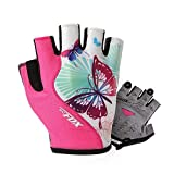 CCXDSL Women Cycling Gloves Female Fitness Sport Gloves Half Finger MTB Bike Glove Road Bike Bicycle Gloves Bicycle Accessories BATFOX Pink M