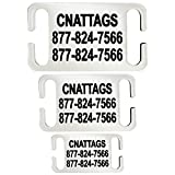 Stainless Steel Slide-On Pet ID Tags Dog Tags Personalized Front and Back Engraving (Small)