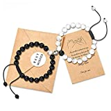Jeka Magnetic Matching Bracelets for Couples,Long Distance Relationships Gifts Pinky Promise Jewelry Beaded Boyfriend Girlfriend His Her