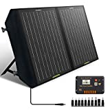 ECO-WORTHY 60W Foldable Solar Panel Charger for Portable Power Station & RV Battery, Solar Charger for Jackery/Roackpals Generator, with 20A Controller for 12V Deep Cycle Battery RV Camping