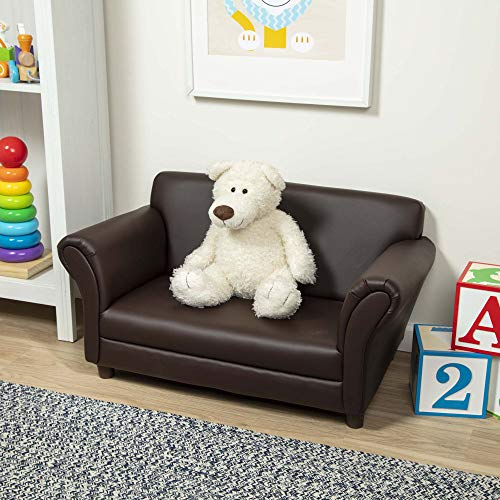 Melissa & Doug Child's Sofa - Coffee Faux Leather