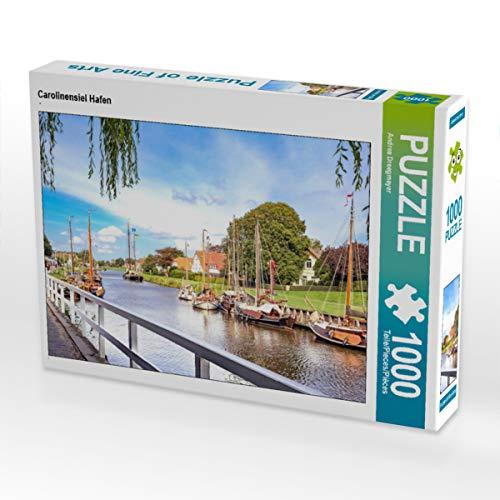 CALVENDO Puzzle Carolinensiel Hafen 1000 Teile Lege-Größe 64 x 48 cm Foto-Puzzle Bild von Andrea Dreegmeyer