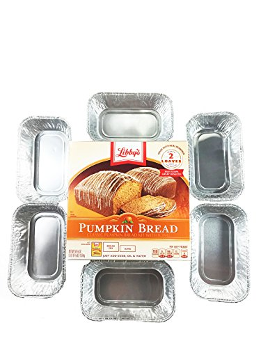 Bread Goodness Bundle: Includes 1 Libby's Pumpkin Bread Kit with Icing, 56.1-ounce and 6 Mini Loaf Tins - Great for Gift Giving!