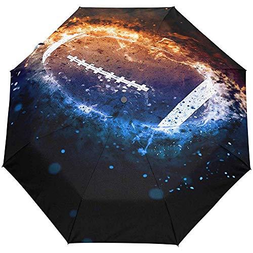 EW-OL American Football Sport Regenschirm Winddicht Regen Automatik Öffnen Schließen Falten Reisen Anti-UV Sonnenschirme