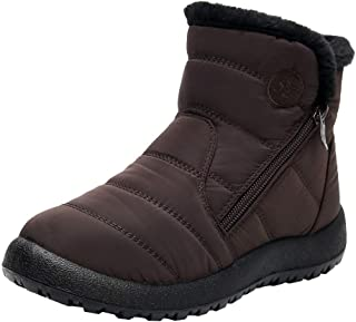 Warm Snow Boots,QueenMM New Winter Ankle Boots, Fur Lining Boots,Waterproof Thickening Comfort Shoes for Women&Men