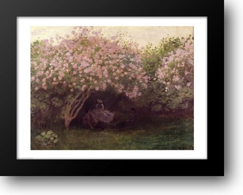 Lilacs, Grey Weather, c.1872-73 28x22 Framed Art Print by Monet, Claude