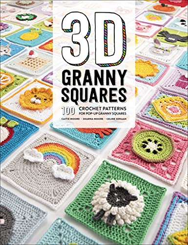 3D Granny Squares: 100 Crochet Patterns for Pop-Up Granny Squares (English Edition)
