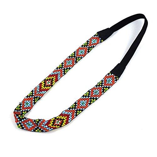 rougecaramel - Headband bandeau brésilien perlé - multicolore
