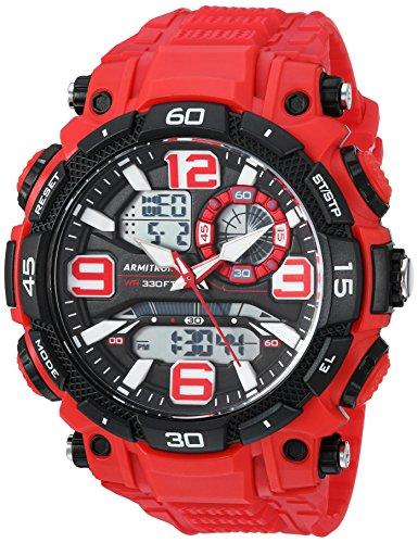 Armitron Sport Men's 20/5270RED Analog-Digital Chronograph Red Resin Strap Watch