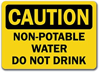 non drinkable water signs