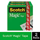 Scotch Brand Magic Tape, 2 Rolls, Numerous Applications, Engineered for Repairing, Great for Gift Wrapping, 3/4 x 1000 Inches, Boxed (810K2)