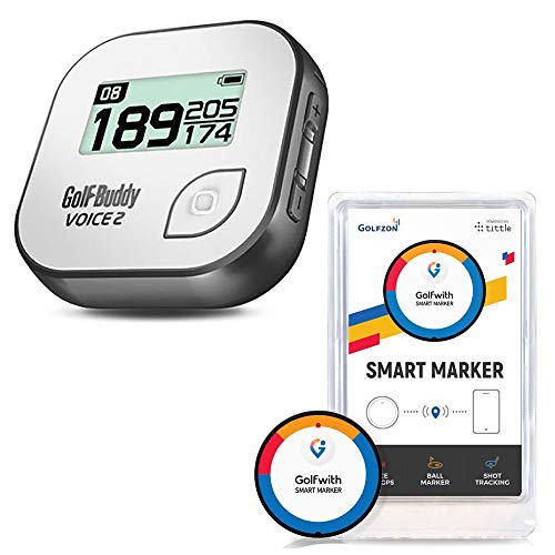 Golf Buddy Talking GPS Range Finder, Gray + Golfwith Connected Tracker