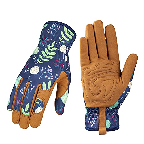 Leather Gardening Gloves for Women - Working...