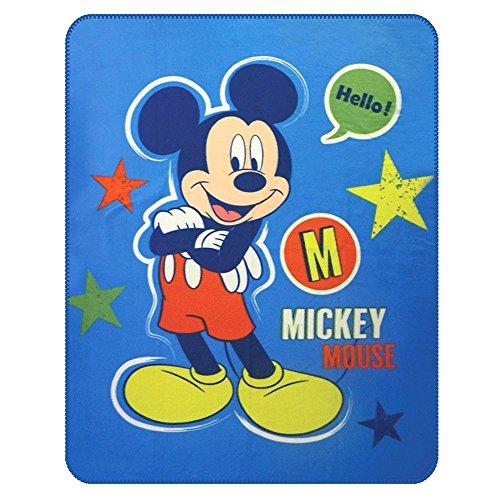 Mickey Mouse Hello | Couverture Polaire | 110 x 140 cm | Disney Plaid Enfant