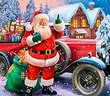AGjDF Papá Noel para NavidadDIY Pintura de por números_Pintura DIY para Adultos y niños Regalo Pintura para Principiantes_40x50cm