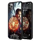 光る!! iPhone各機種対応 マーベル MARVEL 背面ガラス TPUバンパーケース (iPhone11 Pro Max, ……