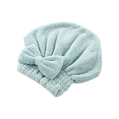 YONGYONGMY Gorros de Ducha Tapas de Ducha sólida Toalla Envuelta Microfibra Baño Sombreros Arco Rápidamente seco Sombrero de Pelo Mujer Niñas Dama Seque Cabello de baño (Color : GN)