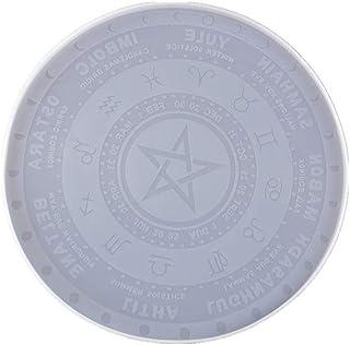 DDARK DIY Pendulum Mat Astrology Zodiac Board Epoxy Resin Mold The Sun Moon Star Tarot Card Tray Round Resin Mold