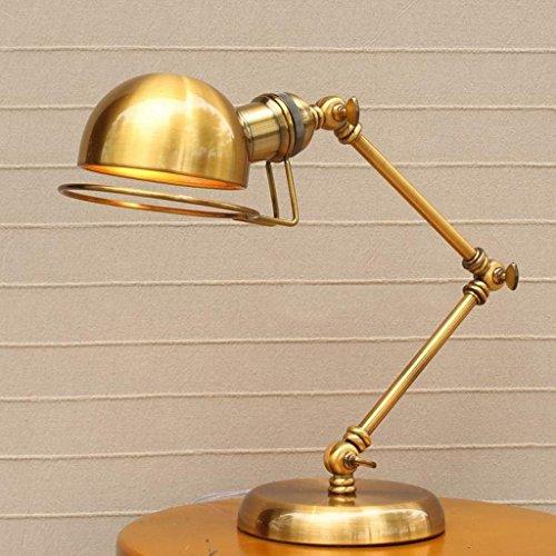 AILI Lampade da Tavolo Lampade da Scrivania American Retro Industrial Style Robot Arm Lampada da scrivania Creativa Lampada da Comodino Regolabile Lampade da Lettura Studio per Ufficio Lampade