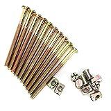 Vite per mobili, 10 pezzi Bullone di collegamento in acciaio al carbonio zincato con dadi cilindrici, bulloni M6 40 mm / 60 mm / 80 mm / 90 mm / 100 mm(100mm)