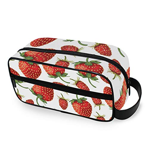 Outils Cosmetic Train Case Strawberry Storage Portable Makeup Bag Toiletry Pouch Box Travel