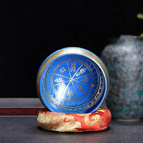 SPNEC LQGSYT 9,5 cm joyería Budista Tibet meditación Martillo Cuenco Yoga Bronce Canto Cuenco de Yoga (Color : B)
