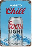Coors Light Tin Sign Vintage Wall Poster Retro Iron Painting Metal Plaque Sheet for Bar Cafe Garage Home Gift Birthday Wedding 8x12
