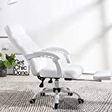 TopJiä PU Leather High Back Office Chair,Ergonomic Desk Chair Rolling Swivel and 155° Recline with Lumbar Support,Executive Chair with Armrests and Wheels