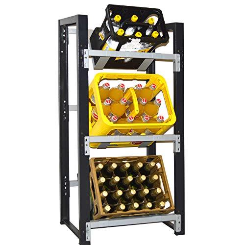 Getränkekistenregal für 3 Kisten - für Wandmontage geeignet (Hauptregal)