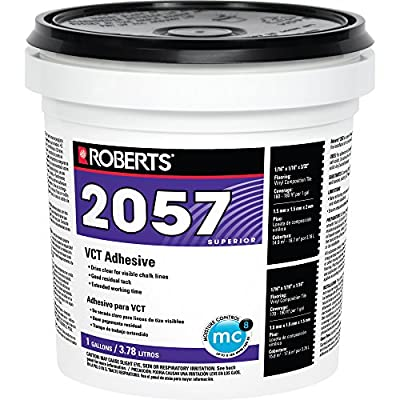 Roberts 2057 Tile Glue Adheres Vinyl-Composition & Vinyl-Asphalt Tile To Structurally Sound Plywood of Underlayment Quality