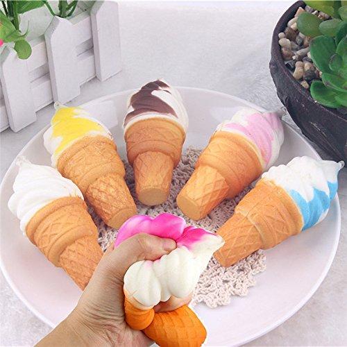 99native 1PC Kawaii Squishy Spielzeug, Eis Simulation Kuchen Langsam Steigenden Handy Riemen Brot Spielzeug Telefon Kette Gurt Creme Duftend Squeeze Toys Kinder Jungen Mädchen (zufällige)