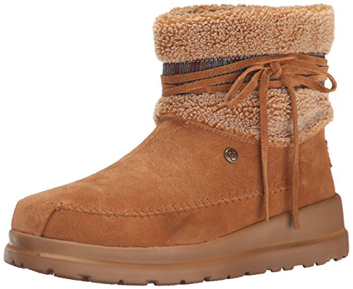 BOBS from Skechers Women's Cherish Run Free Boot, Chestnut, 11 M US