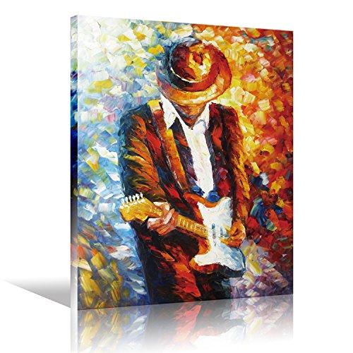 Lienzo pared Art Rock Pop música guitarrista guitarra jugador hombre expresión eléctrica...