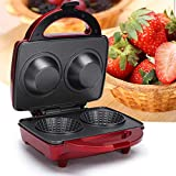 Double-Sided Heating Waffle Maker, 3 in 1 Egg Tart Bowl Electrical Waffle Maker
