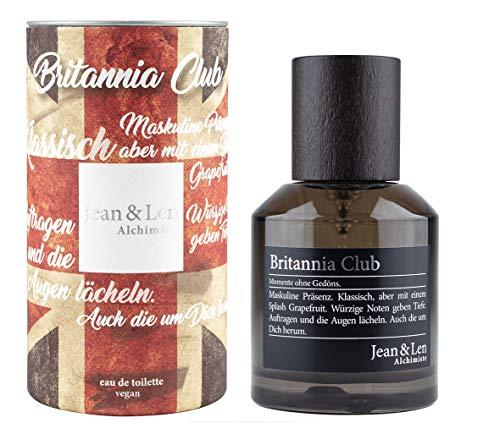 Jean & Len Herrenduft Britannia Club, Parfüm für Herren, Eau de Toilette, Duftnoten: stark, warm, geheimnisvoll, verführerisch, 50 ml, 1 Stück