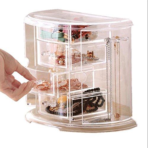 Type de tiroir Boîte de rangement de bijoux Transparent Bureau Bijoux Collier porte-bijoux