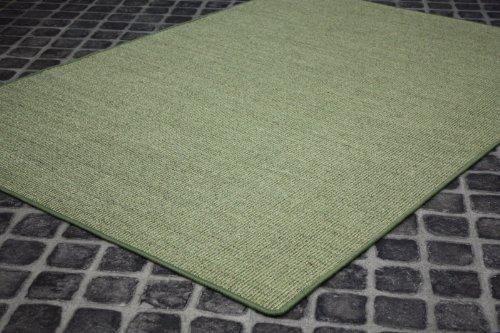 Sisal Teppich Manaus gekettelt Grün 35 in Wunschgröße