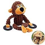 Bello Luna Juguete para Perros Mono Mono con Anillo de Goma para Cachorros Perros pequeños, medianos y Grandes