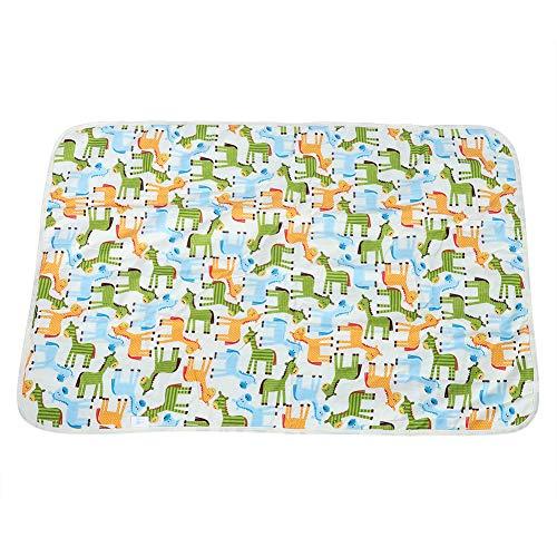 Aankleedkussen Cartoon katoen waterdicht ademend blad luiers urinoir spel cover baby matras urine (60x90 cm)