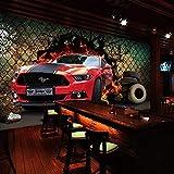 Fototapete 3D Fototapete 3D Auto Sportwagen Geländewagen Jeep Fototapete Bar 4S Shop Tapete Ktv...