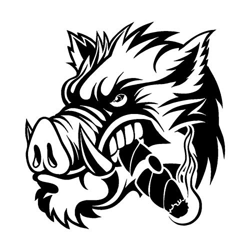 HakamaZHY 2PC,Car/Truck Sticker Vinyl,Car Vinyl Decal Sticker,A Ferocious Wild Boar, Window/Eyebrow/Light/Tail Decoration Stickers,Car Stickers/Decals,For Car