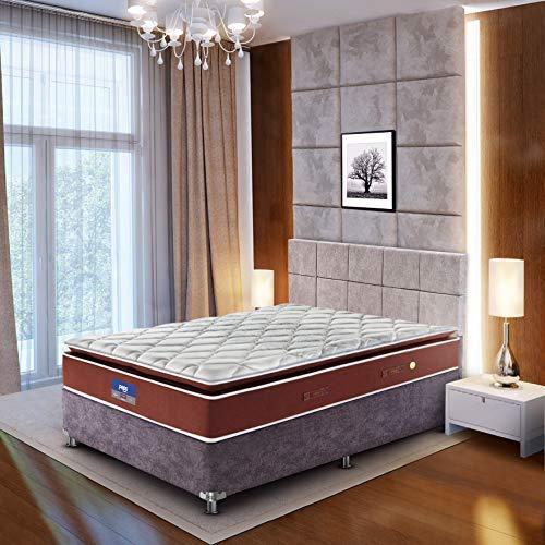 Peps Restonic Geneva Pillow Top 08 inch King Size Bonnell Spring Mattress (Light Blue 78X72X08) Get Free Pillow