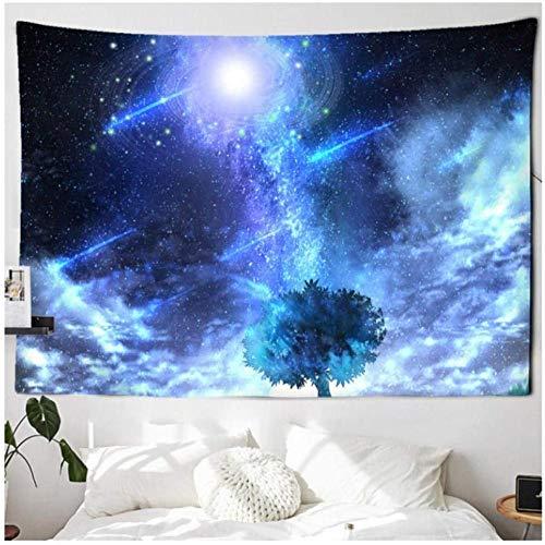 DGSJH Tapiz Cielo estrellado Galaxia Universo Espacio Tapiz Estrellas Colgante de pared Hippie Retro Decoración del hogar Brujería Tapices de tela de pared 150x200cm
