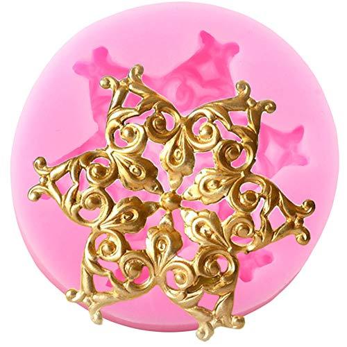 JLZK Border Silikonformen Relief Cupcake Fondantform Hochzeitstorte Dekorationswerkzeuge Candy Chocolate Mould