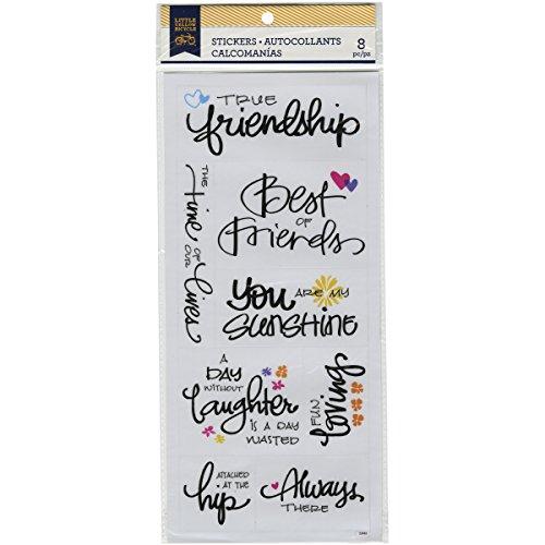 Momenta Little gelb Fahrrad Freundschaft Pergamentpapier Aufkleber