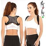 Universal Corrector for Women and Men, 2 Modes Adjustable Upper Back Brace Posture Corrector, Invisible Back Straightener, Releasing Pain for Neck, Back, Shoulder (Black)