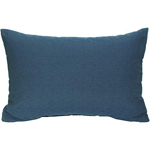 Beo Sofakissen | mit Füllung und Bezug | Dunkelblau | Gr. ca. 60x40 cm | Couchkissen für Lounge-Möbel | Bezug mit Querstreifen-Struktur | bleicht Nicht aus