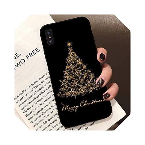 Casarse con árbol de Navidad para iPhone 13 11 12 pro XS MAX 8 7 6 6S Plus X 5 5S SE XR-a6-For 12 o 12 pro